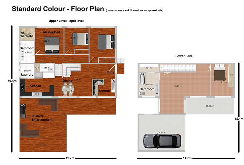 Floor plan standard colour