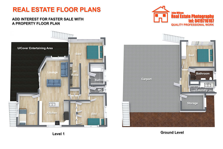 Hervey Bay real estate floor plan service