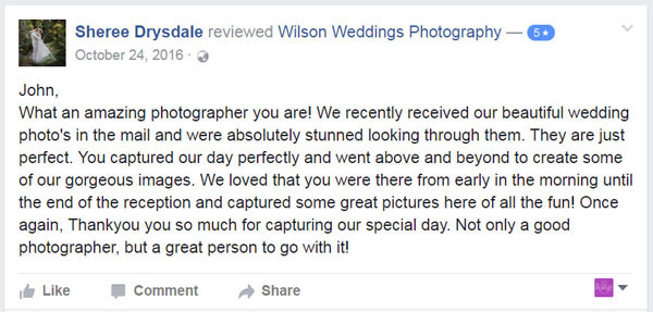 Facebook Review Rainbow Beach Wedding photographer01
