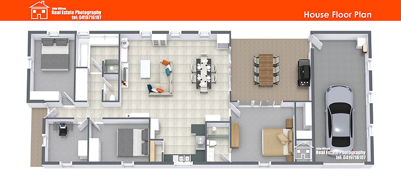 Sunshine Coast floor plan 3D look