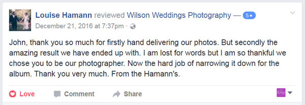 Facebook Review Gympie Wedding photographer02