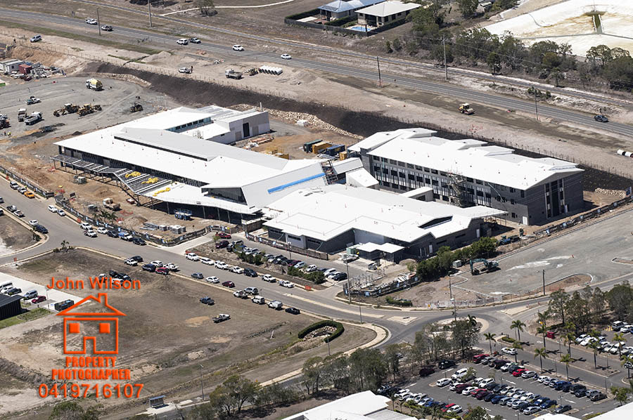 Hervey bay hospital aerial photography