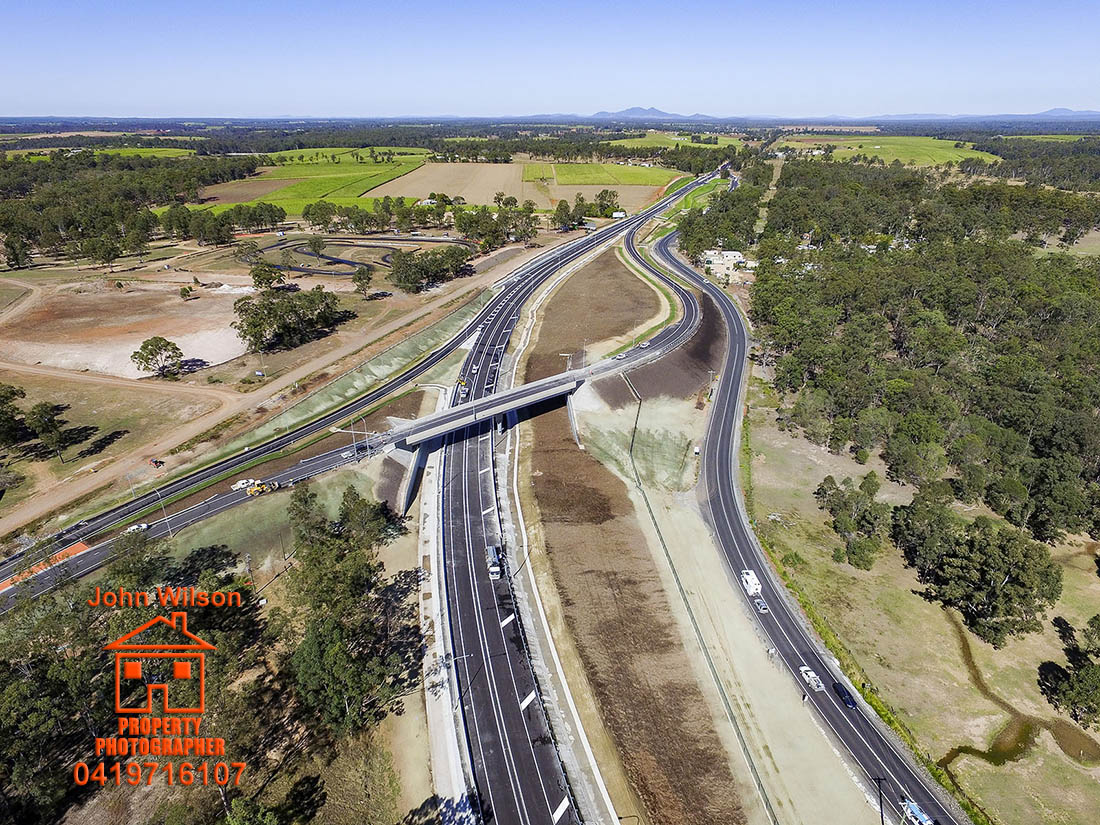 Tinana Interchange - Aerial Photography Maryborough Qld